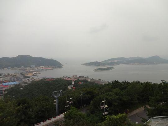 白玉山から旅順湾の眺め