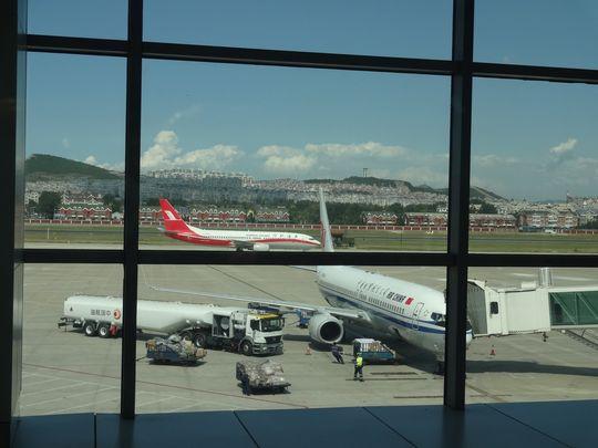 大連空港からの眺め